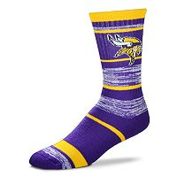 Adult For Bare Feet Minnesota Vikings RMC Stripe Crew Socks