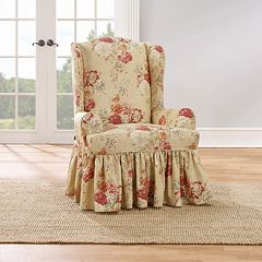 Sure Fit Waverly Ballad Bouquet Wing Chair Slipcover