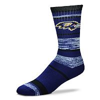 Adult For Bare Feet Baltimore Ravens RMC Stripe Crew Socks