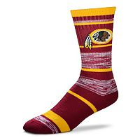 Adult For Bare Feet Washington Redskins RMC Stripe Crew Socks