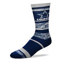 Adult For Bare Feet Dallas Cowboys RMC Stripe Crew Socks