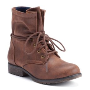 SONOMA Goods for Life? Girls' Slouchy Lace-Up Boots