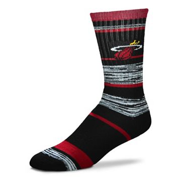 Adult For Bare Feet Miami Heat RMC Stripe Crew Socks