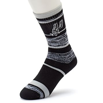 Adult For Bare Feet San Antonio Spurs RMC Stripe Crew Socks