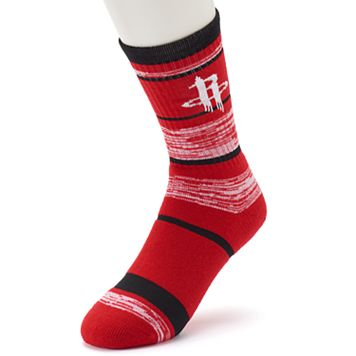 Adult For Bare Feet Houston Rockets RMC Stripe Crew Socks