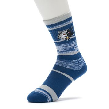 Adult For Bare Feet Minnesota Timberwolves RMC Stripe Crew Socks