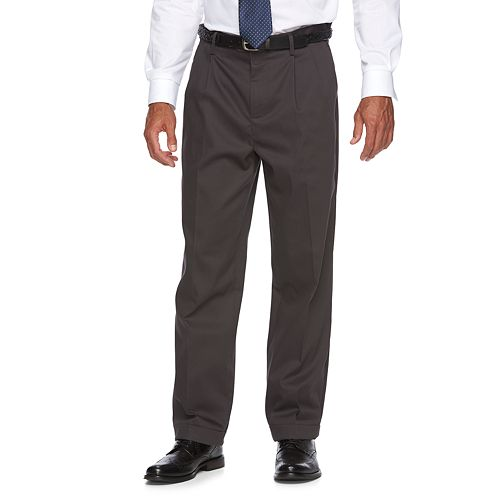 Men's Croft & Barrow® Classic-Fit No-Iron Performance Khaki Pleated Casual Cuffed Pants