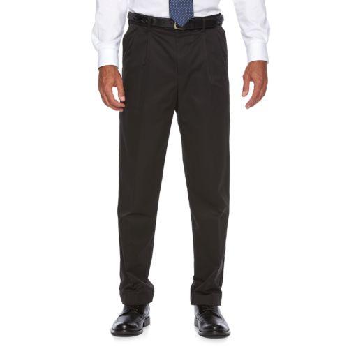 Men's Croft & Barrow® Classic-Fit No-Iron Performance Khaki Pleated Casual Pants