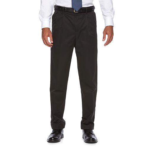Men's Croft & Barrow® Classic-Fit No-Iron Performance Khaki Pleated Casual Cuffed Pants