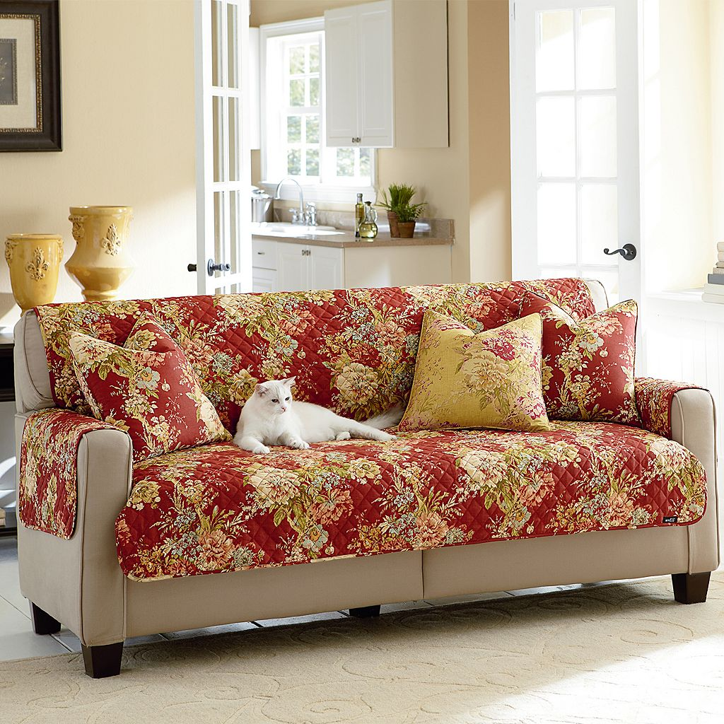 Sure Fit Waverly Ballad Bouquet Loveseat Furniture Pet Cover