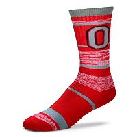 Adult For Bare Feet Ohio State Buckeyes RMC Stripe Crew Socks