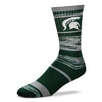 Adult For Bare Feet Michigan State Spartans RMC Stripe Crew Socks