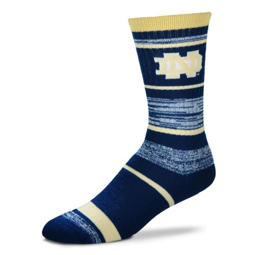 Adult For Bare Feet Notre Dame Fighting Irish RMC Stripe Crew Socks