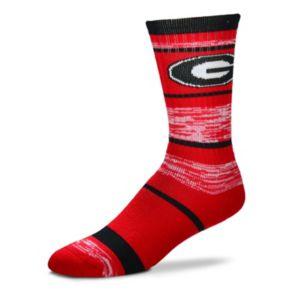 Adult For Bare Feet Georgia Bulldogs RMC Stripe Crew Socks