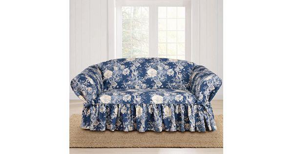 Sure Fit Waverly Ballad Bouquet Loveseat Slipcover