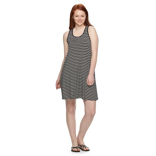52318b35296 Juniors  Plus Size SO® Racerback Knit Swing Dress