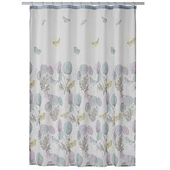 One Home Enchanted Garden Printed Shower Curtain