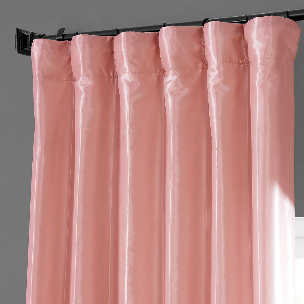 EFF Solid Faux-Silk Taffeta Window Curtain