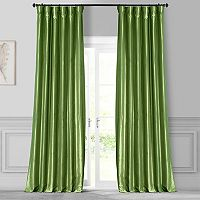 EFF Solid Faux-Silk Taffeta Curtain