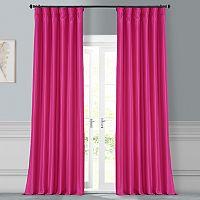 EFF Solid Faux-Silk Taffeta Curtain