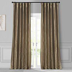 EFF Solid Faux-Silk Taffeta Window Curtain