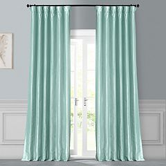 EFF 1-Panel Solid Faux-Silk Taffeta Window Curtain