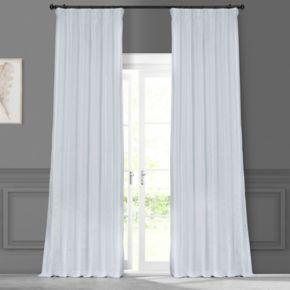 EFF 1-Panel Solid Faux-Silk Taffeta Window Curtain