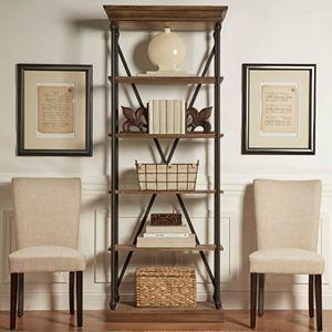 HomeVance Sonya Slim Metal Frame Bookshelf