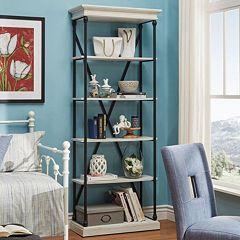 HomeVance Sonya Metal Frame Bookshelf
