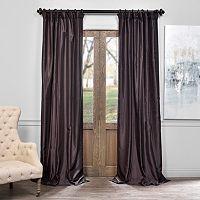 EFF Vintage Textured Faux-Dupioni Silk Curtain