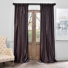 EFF 1-Panel Vintage Textured Faux-Dupioni Silk Window Curtain