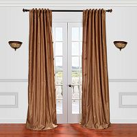 EFF Vintage Textured Faux-Dupioni Silk Window Curtain