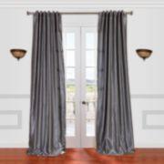 EFF 1-Panel Vintage Textured Faux-Dupioni Silk Window Curtain