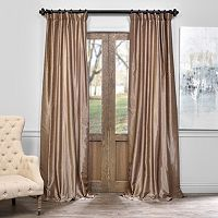EFF Vintage Textured Faux-Dupioni Silk Curtain