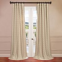 EFF Zeus Faux-Silk Jacquard Window Curtain