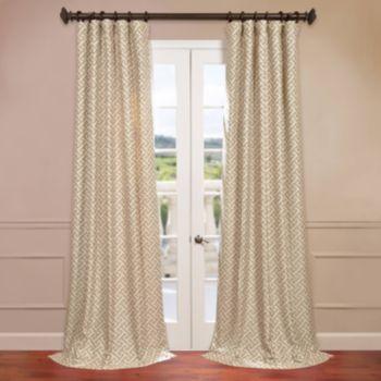 EFF Zeus Faux-Silk Jacquard Window Curtain