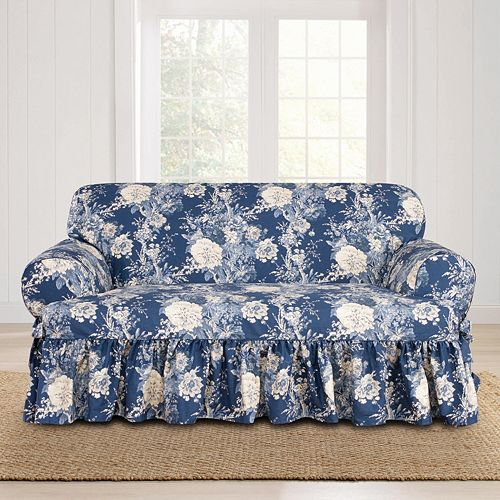 Sure Fit Waverly Ballad Bouquet T-Loveseat Slipcover