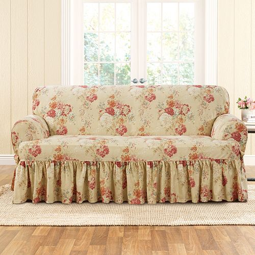 Sure Fit Waverly Ballad Bouquet T Sofa Slipcover
