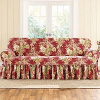 Sure Fit Waverly Ballad Bouquet T-Sofa Slipcover