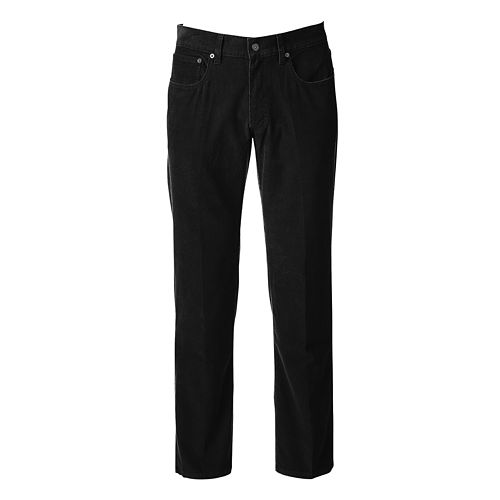 Men's Croft & Barrow® Straight-Fit 5-Pocket Flat-Front Corduroy Pants