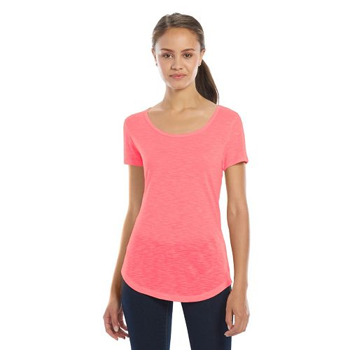 Juniors' SO® Short Sleeve Scoopneck Tee