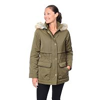 Women's Croft & Barrow® Hooded Anorak Parka