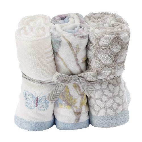 One Home 6-piece Enchanted Garden Washcloths