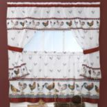 Top of the Morning Rooster 5 pc Cottage Tier Swag Kitchen Window Curtain Set