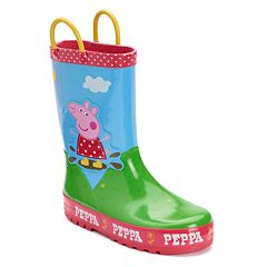 Peppa Pig Muddy Puddle Toddler Girls' Waterproof Rain Boots