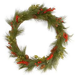 National Tree Company 30' Artificial Mixed Bristle Pine Wreath