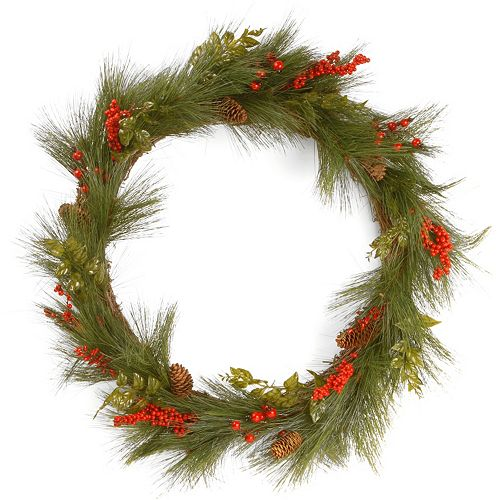 "National Tree Company 30"" Artificial Mixed Bristle Pine Wreath"