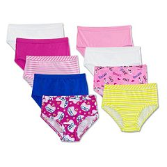 Girls 4-14 Fruit of the Loom 9-pk. Comfort Covered Briefs