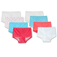 Girls 4-14 Fruit of the Loom 8-pack Boyshorts