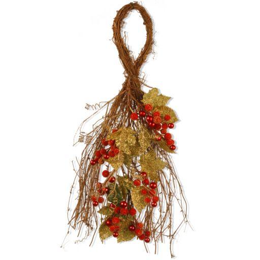 "National Tree Company 24"" Artificial Berry & Leaf Vine Wall Decor"